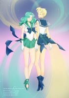 Sailor Urano  Sailor Nettuno by Annaliz