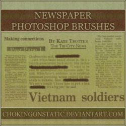newspaper brushes by chokingonstatic