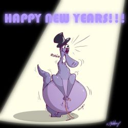 Have a Purple New Year! by Yakkey