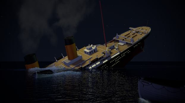 ~ The Final Plunge of the Titanic ~ by WilliamModels