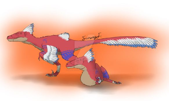 Utahraptor Fossil Fighters Style by FantasyFanatic365