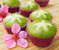 Matcha Petite Cupcakes by ScarletWarmth