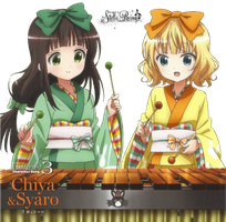 [Render #110] Chiya Ujimatsu and Sharo Kirima by stella-reina