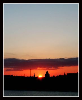 Sunset over Stockholm by Wavecut