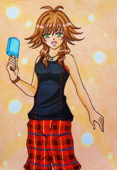 Kingdom Hearts 3: Olette 's new outfit by dagga19