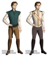 Flynn Rider (Tangled) outfits by sarasarit
