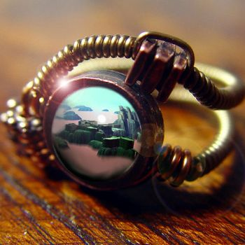 Steampunk Fantasy Ring by CatherinetteRings
