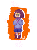 Crybaby!Frisk by theweirdfellow