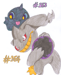 Shuppet and Banette by Scrafty112