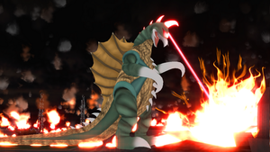 [MMD DL] Gigan (1972-73) by BigJohnnyCool