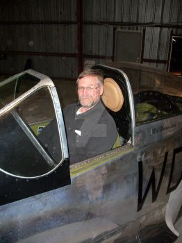 Me Sitting in the Cockpit of a P-51 Mustang by drivernjax