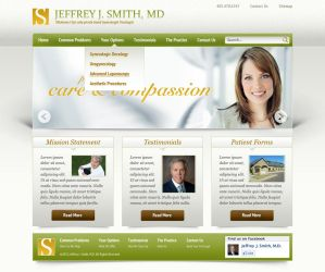 Oncology Website by ipholio
