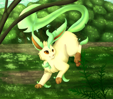 Leafeon by WhimsicalWoods