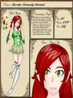 Rosette ref sheet by xXPrincessofLifeXx