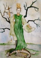 Brigid on Imbolc by hello-heydi