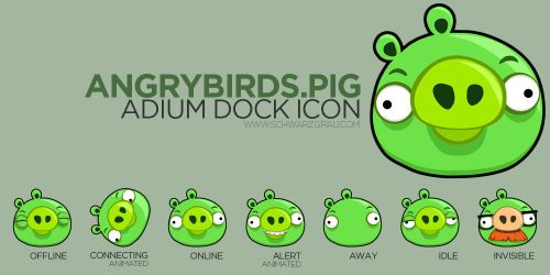 AngryBirds Pig Adium Icon by pfuispinne