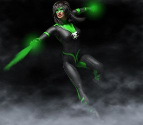 Green Lantern 2nd skin textures for V4 by hiram67