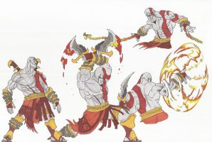 Kratos_God of War_doodles01_Sept2012 by AlexBaxtheDarkSide
