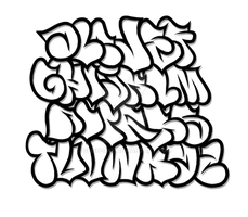 Graffiti Alphabet 1 by GeOh-One