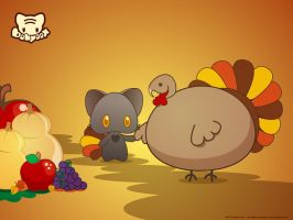 Two Turkeys by lafhaha