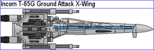 Incom T-65G Ground Attack X-Wing by MarcusStarkiller