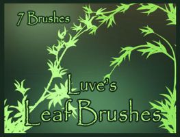 Leaf Brushes by Luvelia