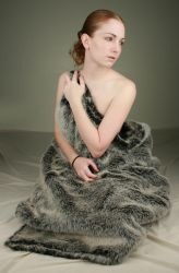 Woman in Fur II by IQuitCountingStock