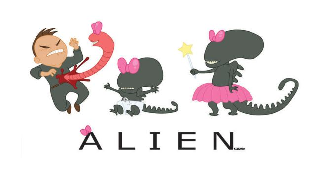 Life of a Xenomorph by happychild