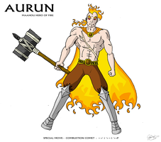 Aurun: Maahou Hero of Fire by JTtheNinja