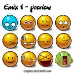 Emix 1 emoticons pack by smgbas