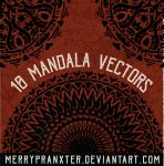 Mandala Vector Shapes by merrypranxter