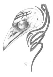 Raven Tattoo Concept by GloomShroom