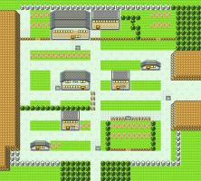 Pewter City in Pokemon Yellow for GBC by CK47