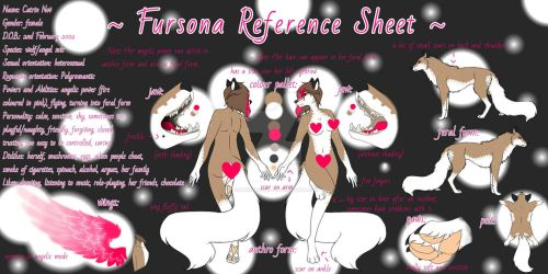 Fursona Reference Sheet 2019 [MORE INFO IN DESC] by CatrinTheWolf