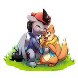 Commission: Buizel hugs by Celebi-Yoshi