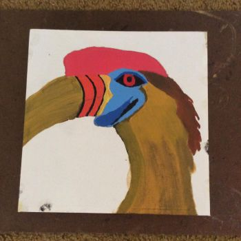 Knobbed Hornbill w/ Shading partially applied by Stitch1290