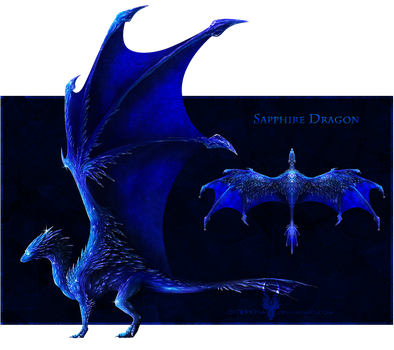 [CLOSED] $.Sapphire.$ - Gem Dragon for Sale! by Diterkha