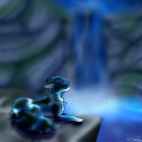 Lets Rest by the Falls by Luna748Fire