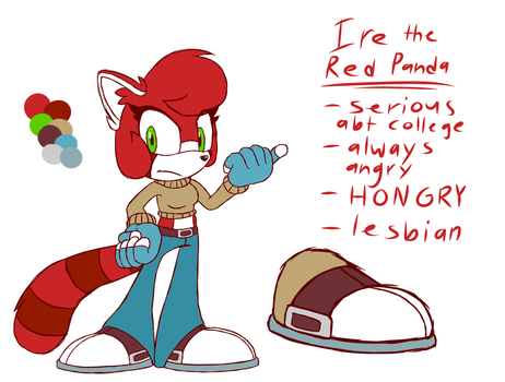 Ire the Red Panda by SweaterHedgie