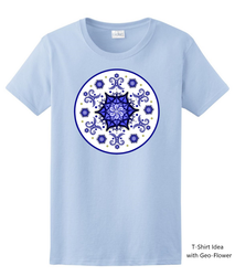 Women's T-shirt Idea with Geo-Flower Design by CherokeeGal1975