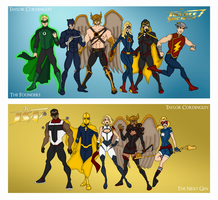 My DCU - Justice Society Redesigned Redux by Femmes-Fatales