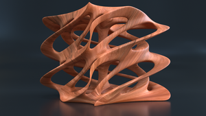 Abstract Walnut Carving by mlindeart