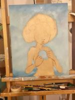 Starting new painting by camilladerrico