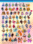 75 Chao collection by Azurelly