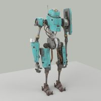 Better Render of Standing Bot by shinypants
