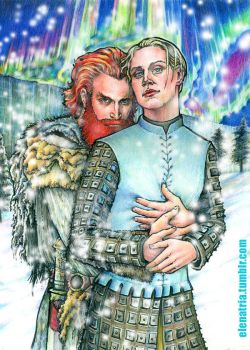 Tormund and Brienne: Winter is coming by ElenaTria