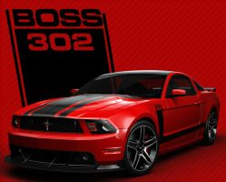 BOSS 302 70's Style RED by nascar3d