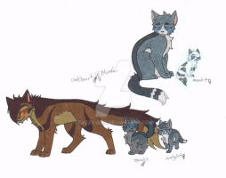 Oakheart and Bluefur's Family by Tazzy-girl
