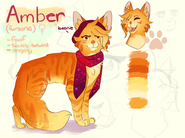 Amber (fursona) Character Sheet by StarGazingHipster