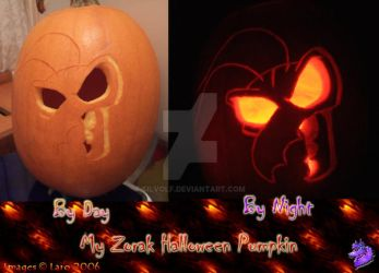 -Zorak Halloween Pumpkin- by Silvolf